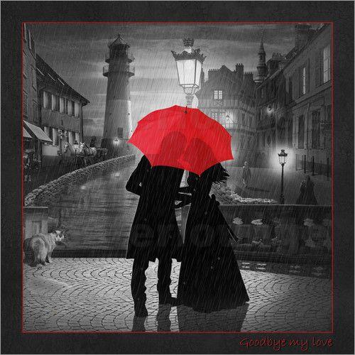Poster goodbye my love romantic wall art by mausopardia romantische wandbilder von mausopardia