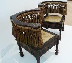 carlo bugatti - pair of corner chairs