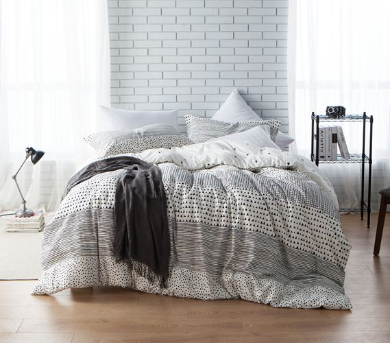 Gradient Block Twin XL Comforter Set Dorm Bedding Must Have Dorm Items