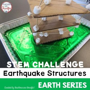 STEM Challenge: April brings Earth Day and this challenge is all about an earth topic! Its an earthquake simulation activity that has students building and shaking! Note: This challenge may be purchased in a money-saving bundle!In this challenge students will be using materials to design a three story structure that can withstand being shaken in a mild earthquake simulation.