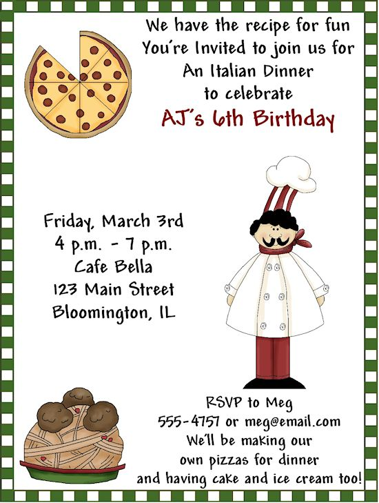 10 best pizza pizzeria birthday party ideas images on pinterest italian party invitations google search birthday dinner stopboris Image collections
