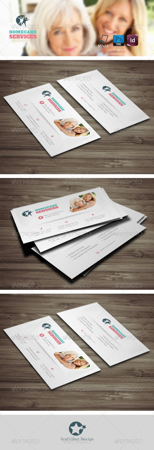 81 best business card templates design images on pinterest home care business card templates magicingreecefo Images