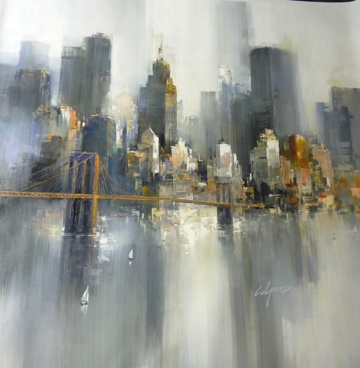 gris immeubles abstrait