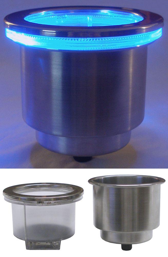 LED Cup Holder for Boat Blue   eBay