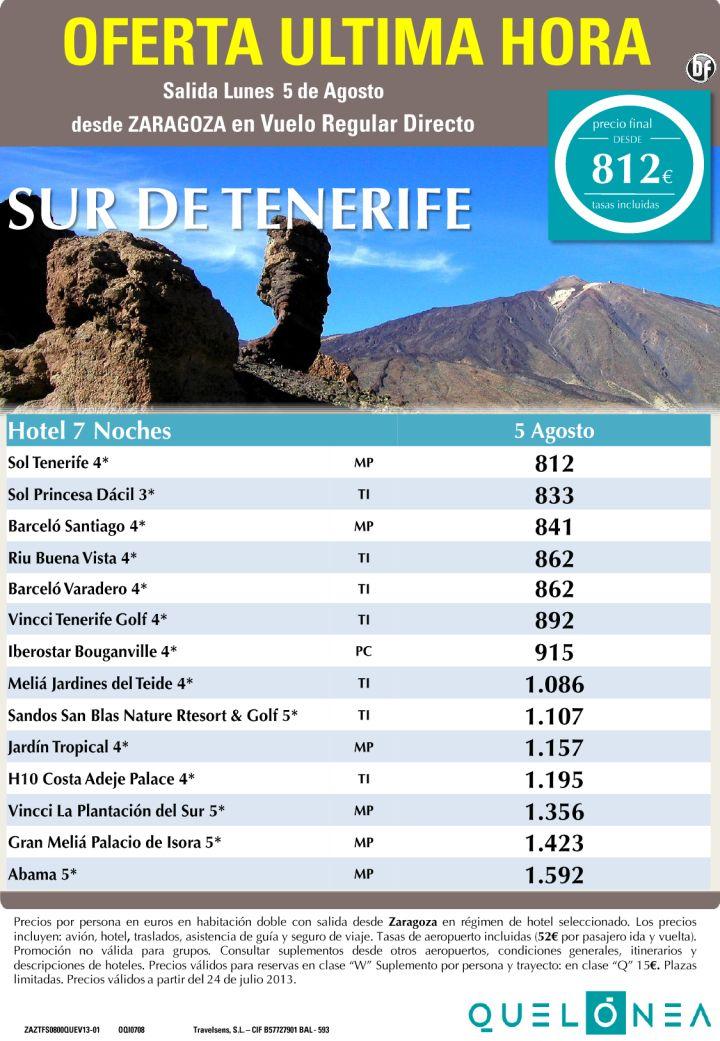 Sur de Tenerife desde 812€ Tax incl. Oferta Ultima Hora-7 Noches desde ZAZ - http://zocotours.com/sur-de-tenerife-desde-812e-tax-incl-oferta-ultima-hora-7-noches-desde-zaz/