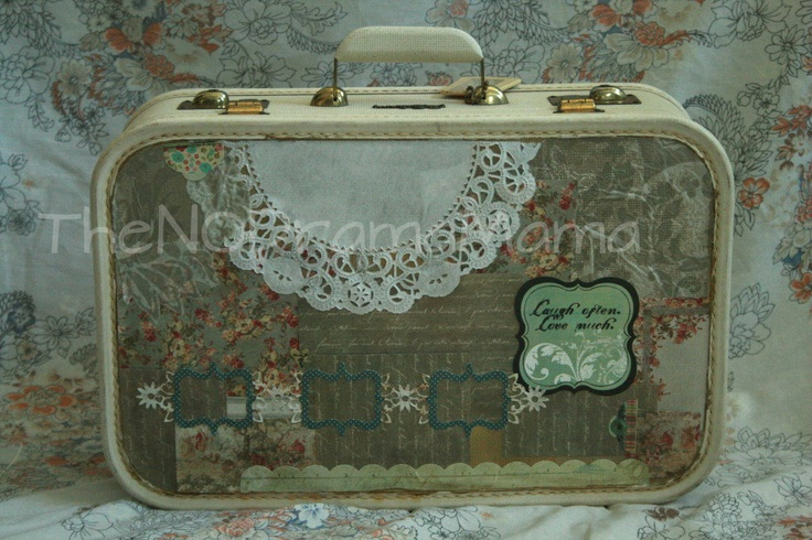 Vintage Patchwork Suitcase: Worth Reading, Patchwork Suitcase, Books Worth, Vintage Patchwork