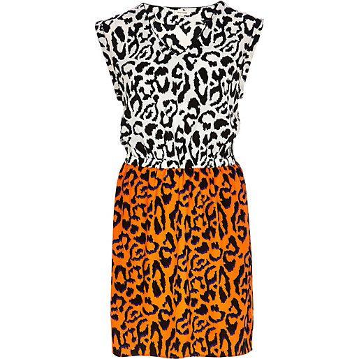 River Island Orange animal print dress - dresses - sale - womenOrange Animal Print