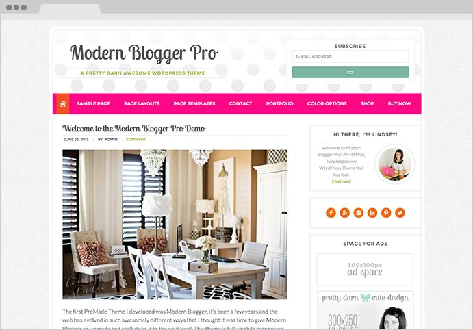 24 best Feminine Genesis WordPress Themes images on Pinterest ...