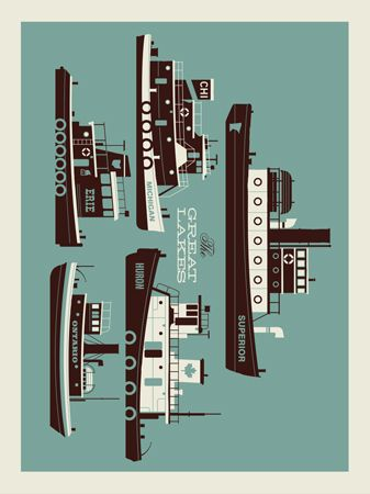 GREAT LAKES SCREEN PRINT | Limited Edition Art Posters Archives | Page 2 of 9 | Methane Studios