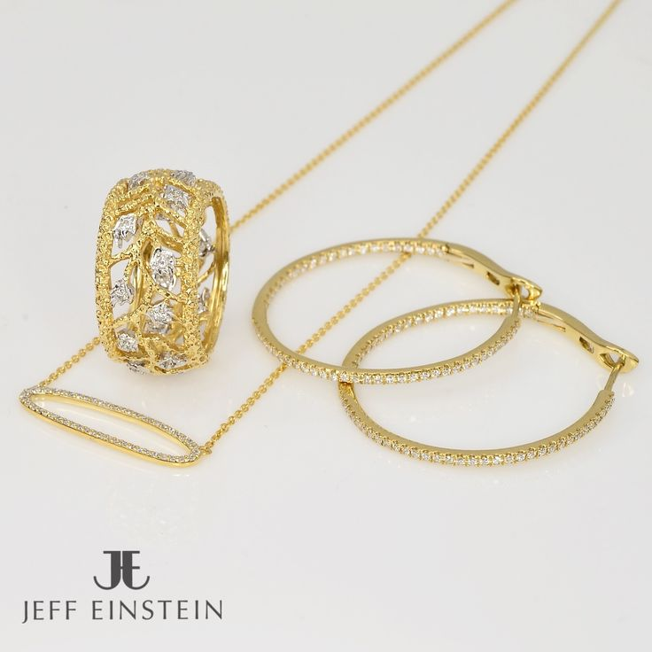 We have just received a wonderful variety of new yellow gold stock in store . #jeffeinsteinjewellery #doublebay #sydney #christmas #yellowgold #diamond #earrings #ring #diamondring #pendant #jewelry #jewels #jewellery #sparkle #gifts