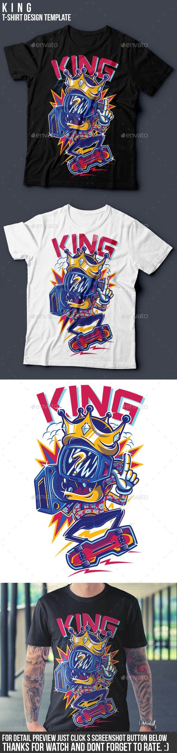 KING T-Shirt Design illustration Template Vector EPS, Transparent PNG, AI Illustrator. Download here: http://graphicriver.net/item/king-tshirt-design-/15853356?ref=ksioks