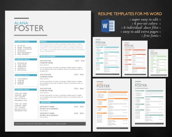 Best Microsoft Word Resume Templates Images On