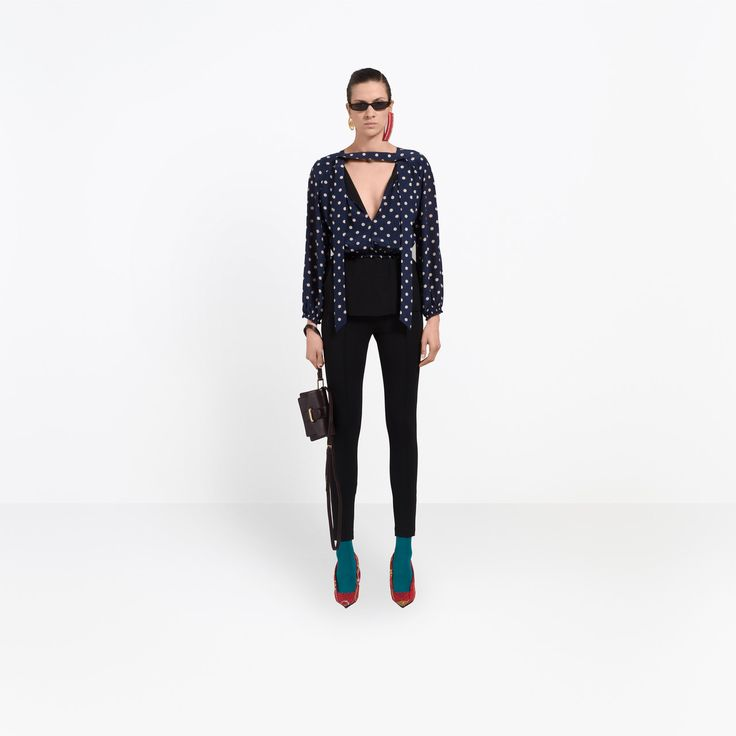 BALENCIAGA Tops D Misplaced Lavalliere Blouse g