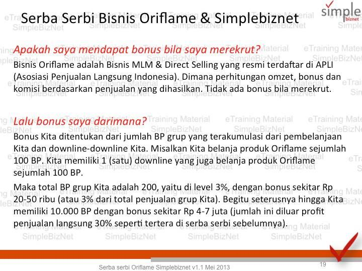 Bonus di Oriflame,