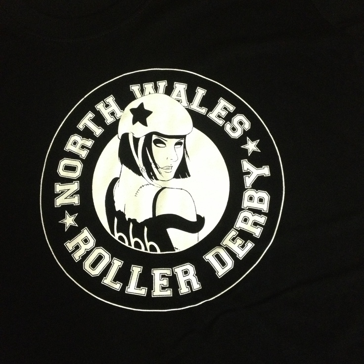 Zombie roller girl shirts ~ at North Wales Roller Derby
