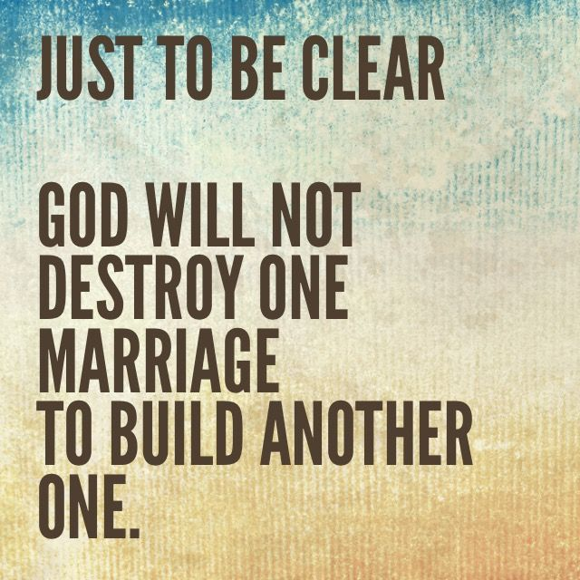 There are so many people who believe that somehow they have been blessed with a new man/women brought into their life by God regardless of their marital status. Ladies.... Stop!!! This is not a blessing. It is a selfish act and goes against GOD. How then if it goes against his wishes for your life can it be a blessing? It CANT.