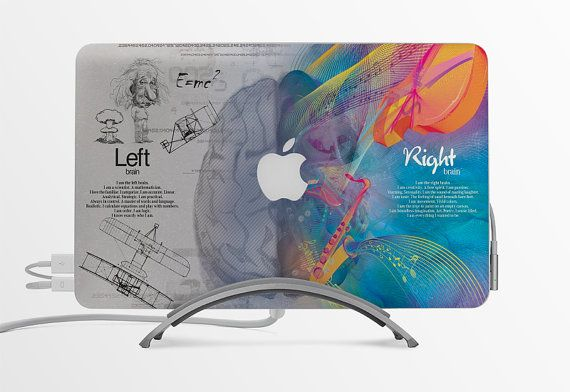 Macbook Decal / Custom Creative Sticker / Computer decoration / Gift / Apple logo / Think Different Blue Edition
