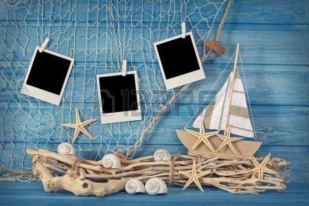 -decoracion-de-la-vida-marina-y-fotos-azul marine decoration
