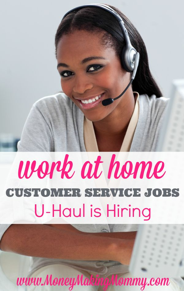 Looking for work at home just got a little easier. U-Haul offers many work at home positions, both full time and part time. Get more details about pay and how to apply at MoneyMakingMommy.com.