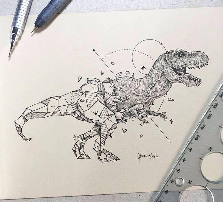 Geometric sketch t-rex