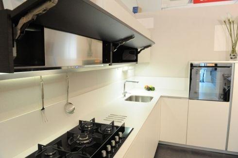 Cucina bianca top bianco