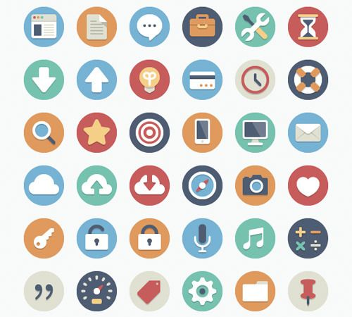웹디자인 - 웹디자이너, 디자인소스, 아이콘, UI, 모바일, 앱 디자인 정보 공유 :: 플랫 디자인 아이콘 및 목업 PSD 디자인소스