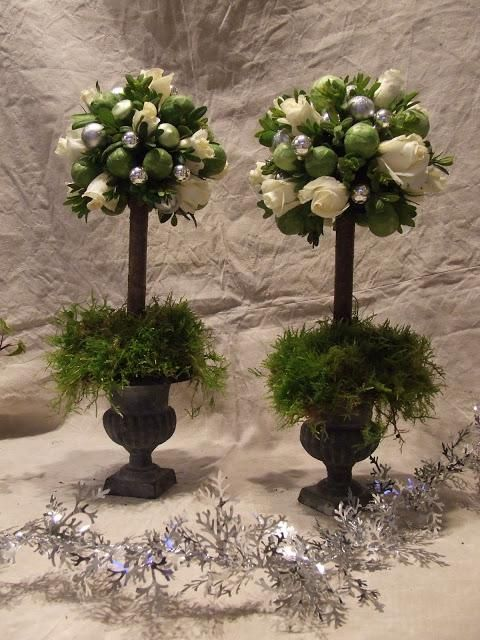 Wedding Topiary Ideas Part - 38: DIY Home Decor :DIY Box And Brusselsprout Topiary : DIY Topiaries