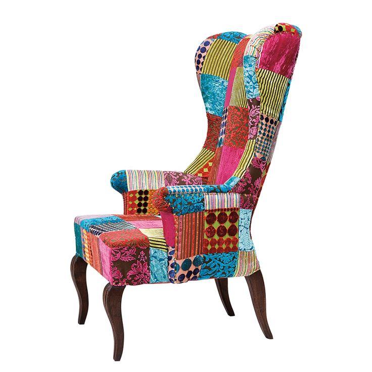 ohrensessel patchwork bestseller shop f r m bel und. Black Bedroom Furniture Sets. Home Design Ideas