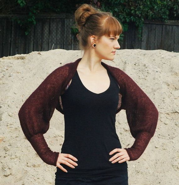 Super soft knits brown plum burgundy wool blend by supersoftknits