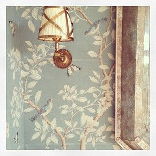gracie wallpaper for powder bath wallpaper and sconce