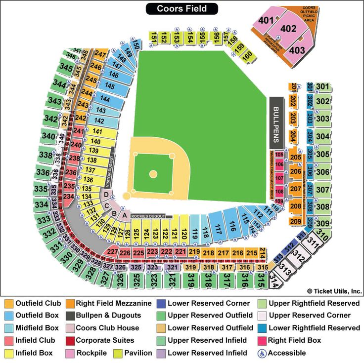 rockies seating chart | Coors Field Seating Chart