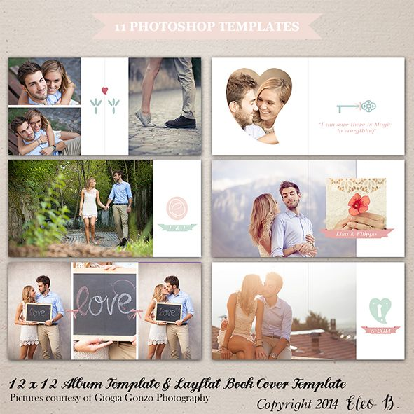 12x12 Album Template - Photoshop Template - A002 - instant download  SHOP AT: etsy.com/shop/eleob SEARCH WITH THE CODE   Pictures by Giorgia Gonzo Photography  Models Lisa and Filippo #PSD #photography #photoshop #template #marketing #free #fonts #etsy #eleob #12x12 #album #book #layflat #cover #savethedate #save #the #date
