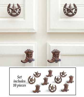 Unique Western Style Cabinet Knobs