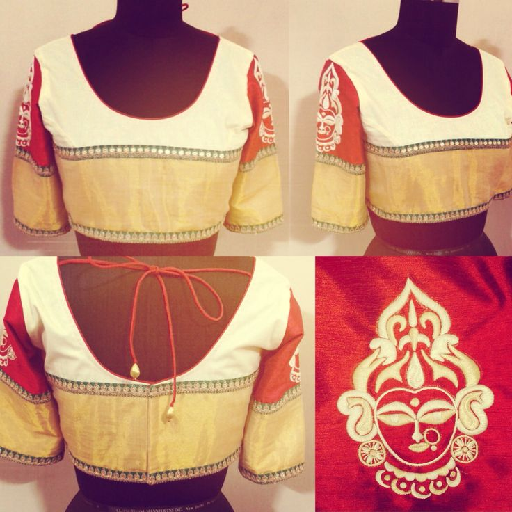 Durga blouse by Ayush Kejriwal For purchase enquires email me at…