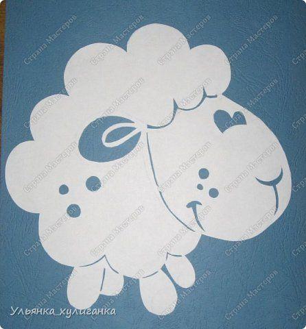 Поделка изделие Новый год Вырезание Вытынанки овечки Бумага фото 2