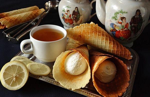Вафли в вафельнице на маргарине (хрустящие)