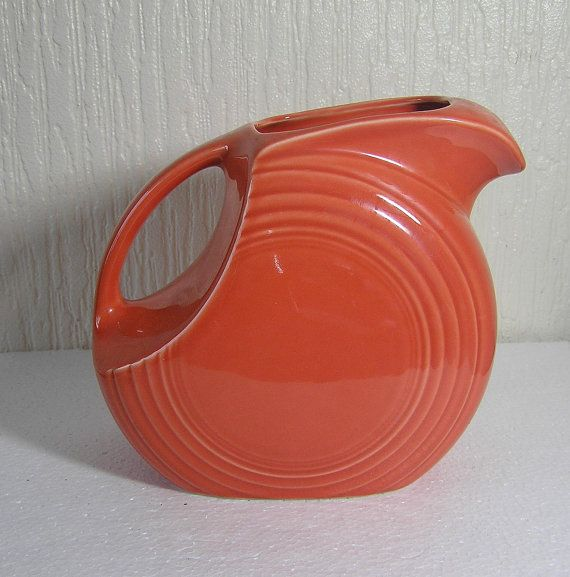 Fiesta Persimmon Large 671/4 oz. Disk Pitcher  by DutchTrader, £25.00