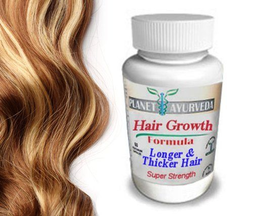 Grow Longer, Thicker Hair Products - by Planet Ayurveda - 100% Safe Herbal Hair Growth Pills for Fast Hair Growth Super Strength formula for longer hair thicker fuller hair. Naturally Stronger Growing Hair. 60 hair pills tablets. Grow Hair Fast! by Planet Ayurveda. $17.99. Vegetarian capsule shell!. 100% Safe & Effective Natural Herbal Supplements - for faster hair growth. Grow Longer Hair Fast - Grow Stronger Hair Fast - Grow Thicker Hair Fast!. Helps existing hair grow mor...