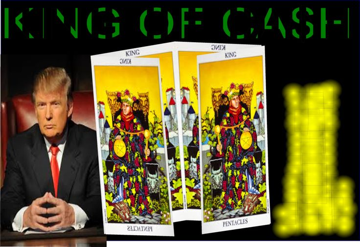 Donald Trump said: 'I am no stranger to working hard. I have done it all my life. As a result I have become accustomed to expecting success in everything I do. Some people call me lucky, but I know better.' This is the energy of a King of Pentacles person. They are very good at business.