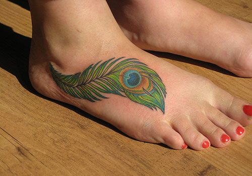 26 Colorful Peacock Feather Tattoo For 2013 | Creative Fan