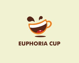 Euphoria cup Logo design - Smile combined with a cup in one symbol.Friendly, positive, can be used for cafe, bar, restaurant, or for dish distributor, manufacturer. Price $259.00