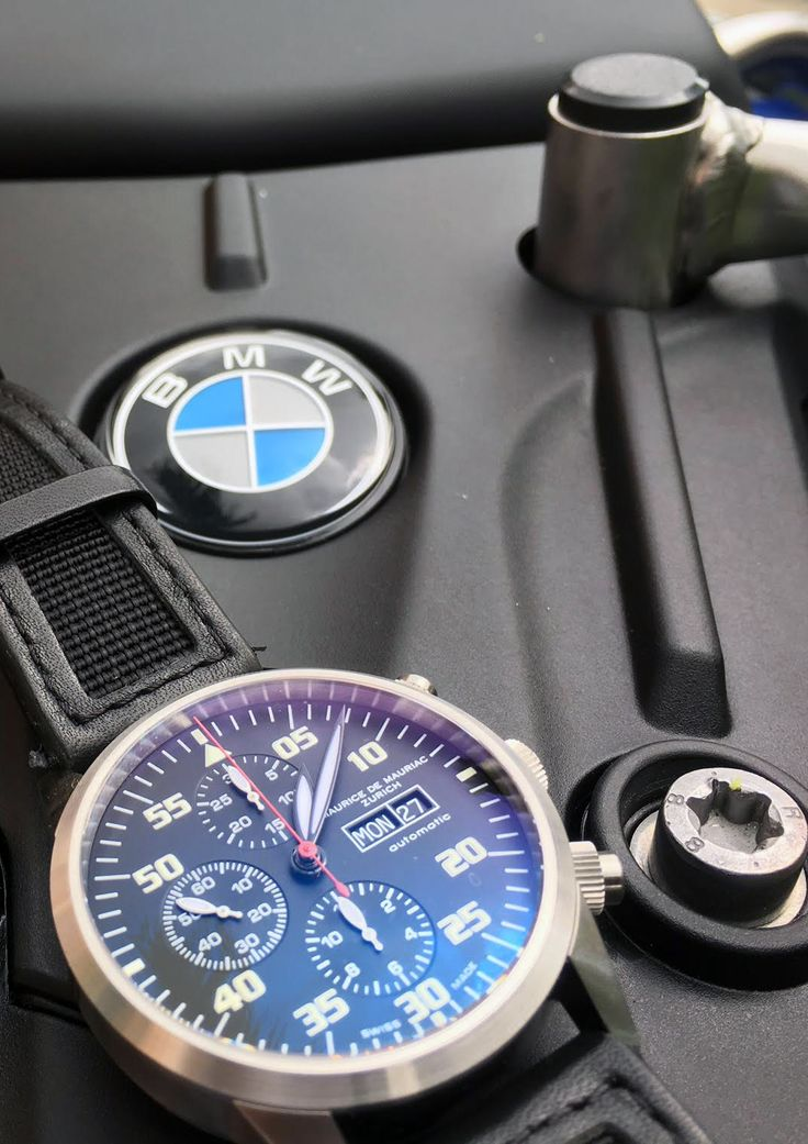 Maurice de Mauriac Chronograph Modern with Nato strap. Luxury Swiss watches for men and women.