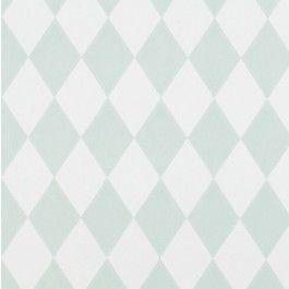Harlequin carta da parati verde e bianca - ferm LIVING | trend-HOUSE