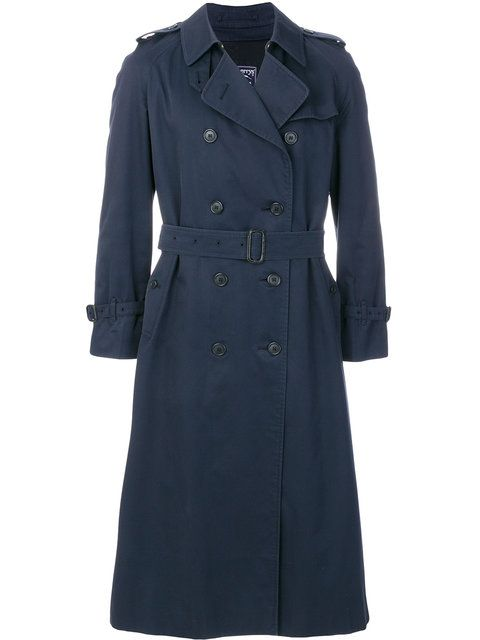 df32c8963289a3 Shop Burberry Vintage double breasted trenchcoat | I am a Diva ...
