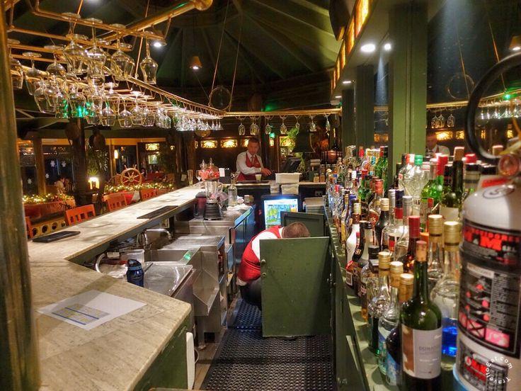 Bar of La Rosa Nautica Restaurant. Lima, Peru