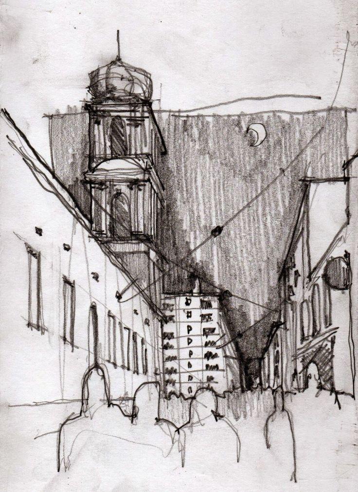#Croquis, ciudad de Tucuman. Paisaje Argentino. #Quick #Urban #Sketch #Architecture