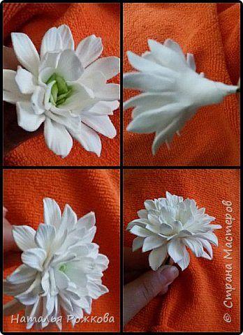 Моя небольшая композиция, хризантемы и розы.А также мк по хризантемам,и описание цвета синих роз,проблема та еще)) фото 20