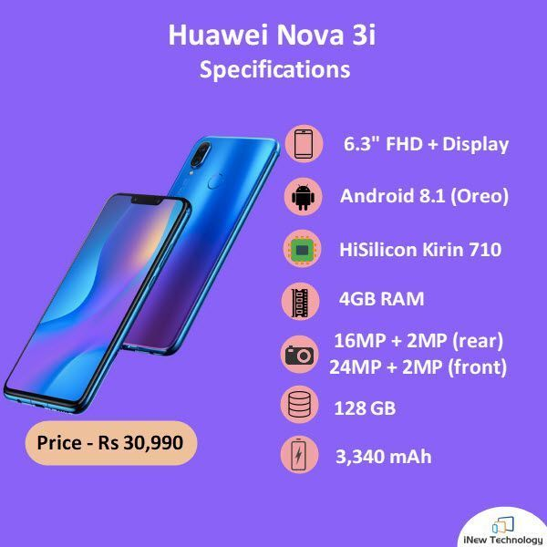 Nova 3i, Huawei's first smartphone to come with the 12nm