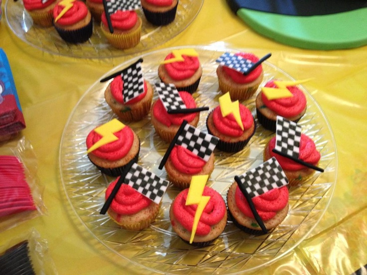 Disney's Cars theme cupcakes. I made these for my cousin.