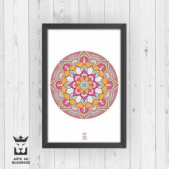 """62 curtidas, 5 comentários - Decoração - Arte ao Quadrado 🦁 (@arteaoquadrado.oficial) no Instagram: """"Mandala, significa círculo em palavra sânscrito. Universalmente a mandala é o símbolo da integração…"""""""